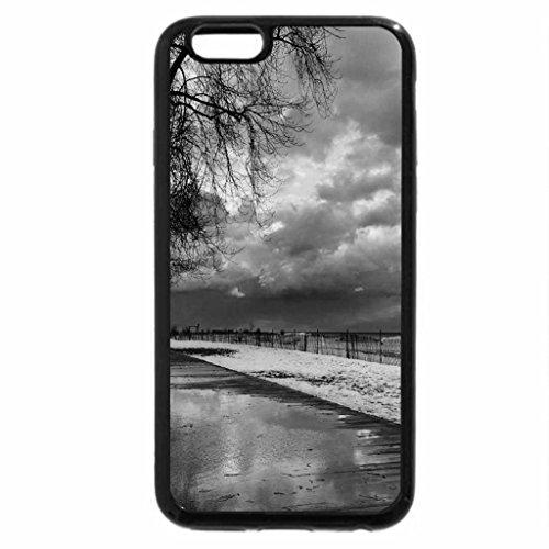 iPhone 6S Case, iPhone 6 Case (Black & White) - Winter Beach