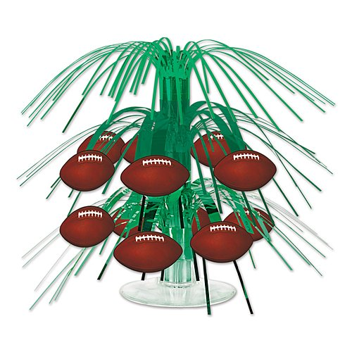 Beistle 54104 Football Mini Cascade Centerpiece, 7.5