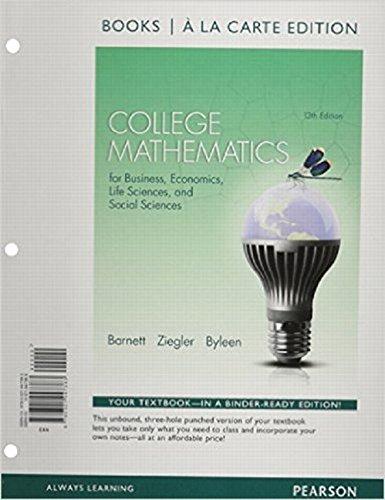 Coll.Math.F/Bus,Econ,Life...(Looseleaf)