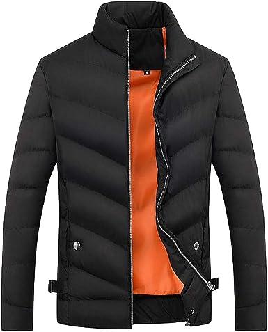 Fashion Men Boys Casual Warm Stand Collar Slim Winter Zip Coat Outwear Jacket
