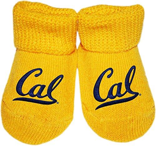 University of California at Berkeley CAL Newborn Baby Bootie Sock, Gold, Newborn]()