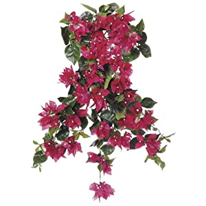 Artificial 24-inch Watermelon Bougainvillea Trailing Bush (Set of 6) 117