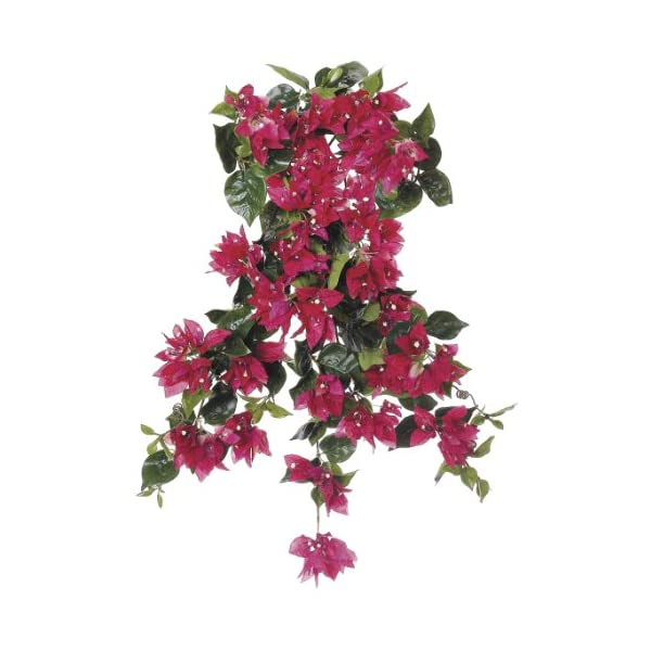 Artificial 24-inch Watermelon Bougainvillea Trailing Bush (Set of 6)