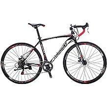 EUROBIKE Road Bike EURXC550 21 Speed 54 cm Frame 700C 3-Spoke Wheels Road Bicycle Dual Disc Brake Bicycle