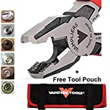 "VAMPLIERS. World's Best Pliers. 8"" Pro VT-001-8 Lineman's Screw Extraction Pliers + Free Vampire Tools Pouch Black Friday Cyber Monday Week Deal, Make the Best Gift (Pliers W/Free Pouch)"