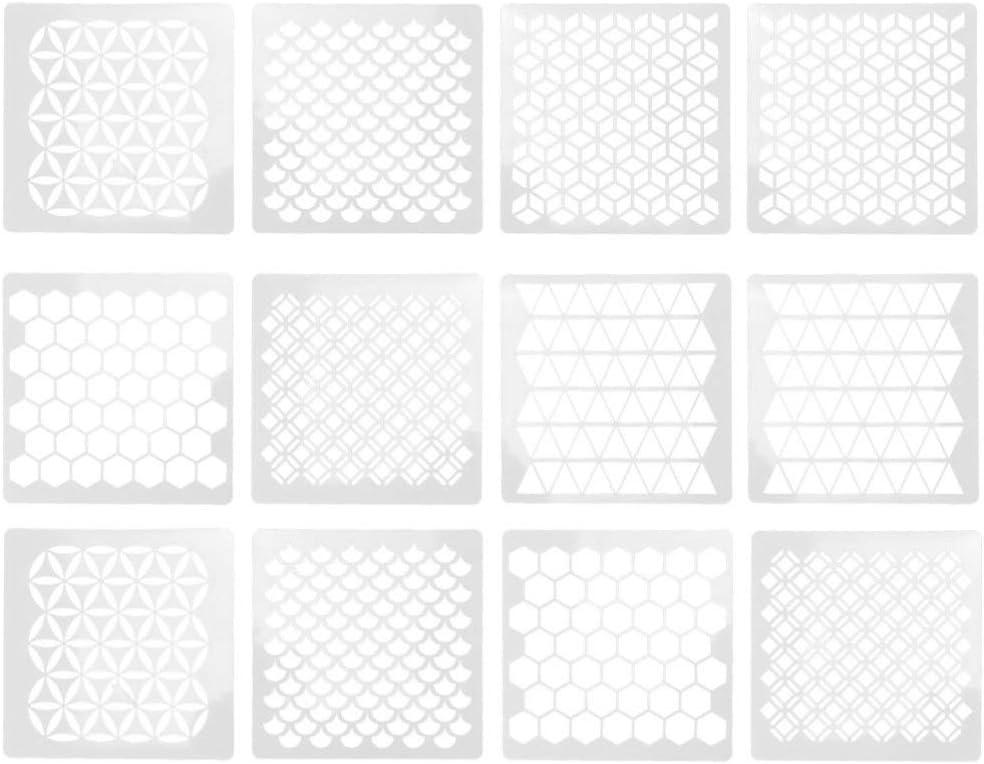 Exceart - Plantillas de plástico para planificar diseños geométricos de nido de abeja, para tienda, casa, muebles, pared, suelo, decoración blanca