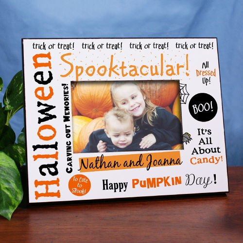 GiftsForYouNow Spooktacular Halloween Printed Frame, Holds a 3.5
