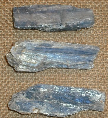 Kyanite Blue Crystal Rough Natural Blade 20-30 mm x3 Gifts and Guidance