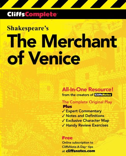 CliffsComplete Merchant of Venice [William Shakespeare] (Tapa Blanda)