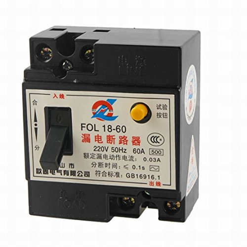 FemiaD 220V AC 60A 2P RCCB FOL18-60 Residual Current Circuit -