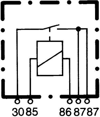 12V Sch/éma de c/âblage: S2 Vers/° fiche-ID: B 4p/ôle courant de travail HELLA 4RA 933 332-541 Relais Relais /à courant de travail