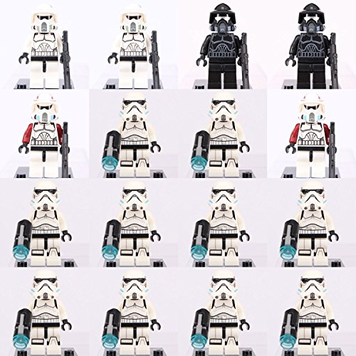 [JSM 16pcs Star Wars Shadow ARF Trooper + Storm Trooper Minifigures Lego] (Clark Kent Halloween Costume Girl)