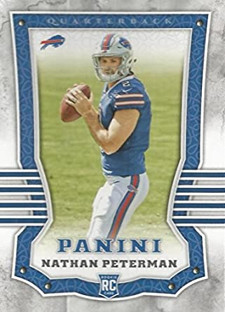 factory price 3b999 6aa6b Amazon.com: 2017 Panini #105 Nathan Peterman RC Rookie ...