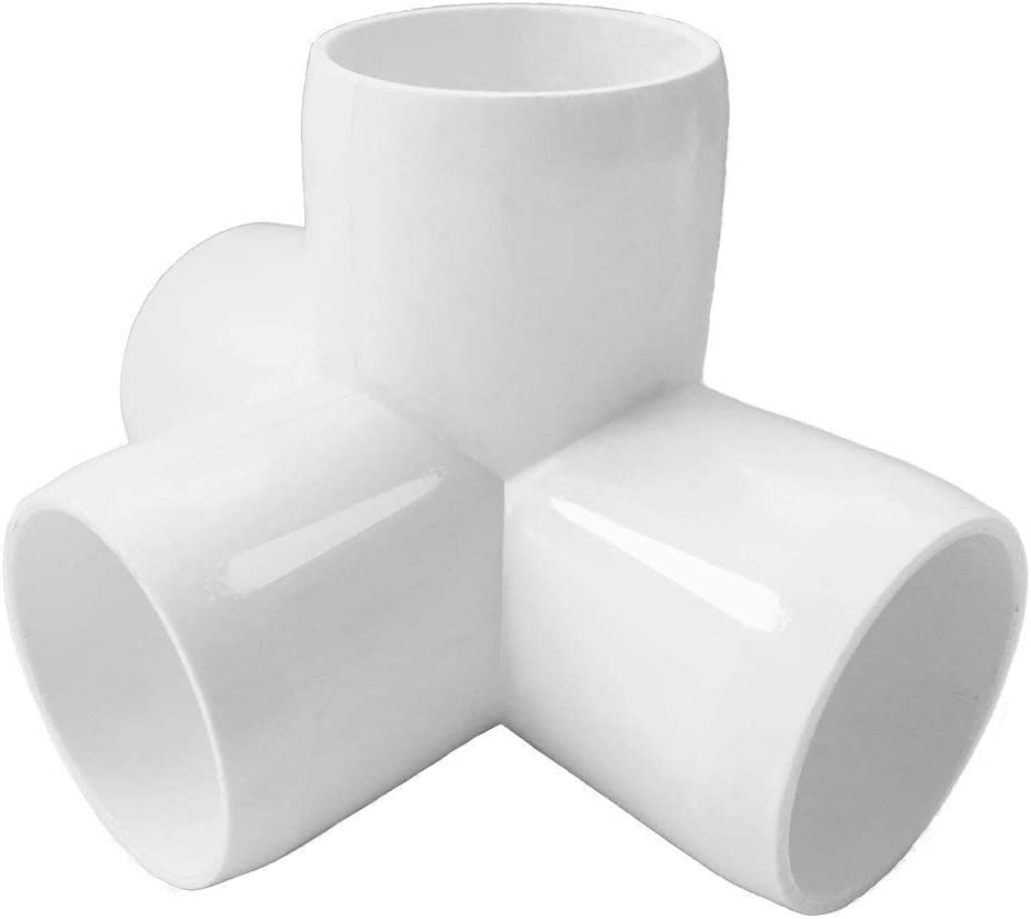 Pack of 8 Build Heavy Duty PVC Furniture SELLERS360 4Way 1 1//4 in Tee PVC Fitting Elbow PVC Elbow Fittings