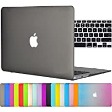 """Easygoby 2in1 Matte Frosted Silky-Smooth Soft-Touch Hard Shell Case Cover for 13-inch MacBook Air 13.3"""" (Model:A1369 / A1466) + Keyboard Cover - Gray"""