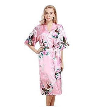 YSFU Albornoces Pijamas Albornoz De Mujer Bata De Baño Batas Largas para Mujer Señoras Pijamas Vestido De Flores Otoño Invierno Ropa De Dormir Abrigo De ...