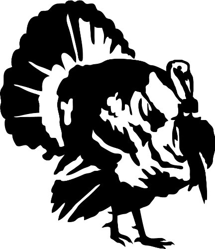 Express Yourself Products Strutting Tom Wall Decal (Black - Facing as Shown - Small) - Upland Game Bird Collection