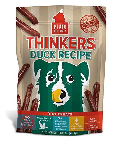 (PLATO Dog Treats -Thinkers Natural Duck Sticks- 10 oz)