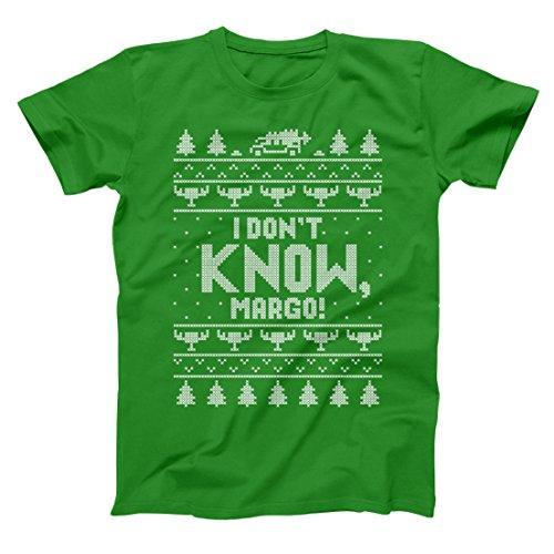 I Don't Know Margo Holiday Vacation Ugly Christmas Funny Xmas Lights Cheer Retro Classic Movie Humor Mens Shirt X-Large Green (Classic Shirt Movie)