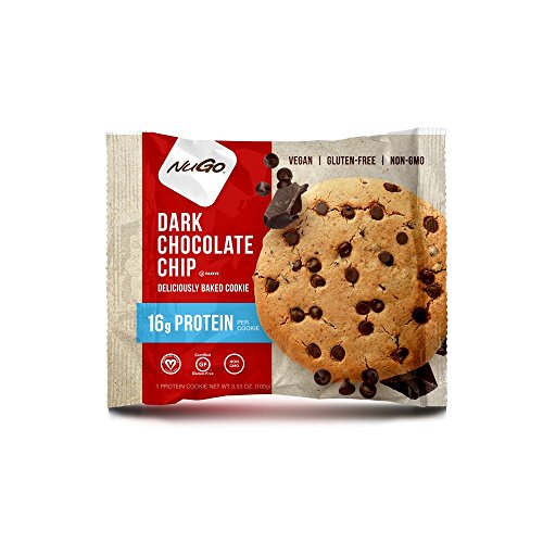 NuGo Gluten Free Protein Cookie, Dark Chocolate Chip, 12 Count