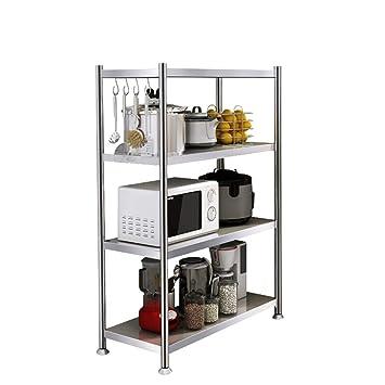 Estante estante estante estantería de acero inoxidable cocina ...