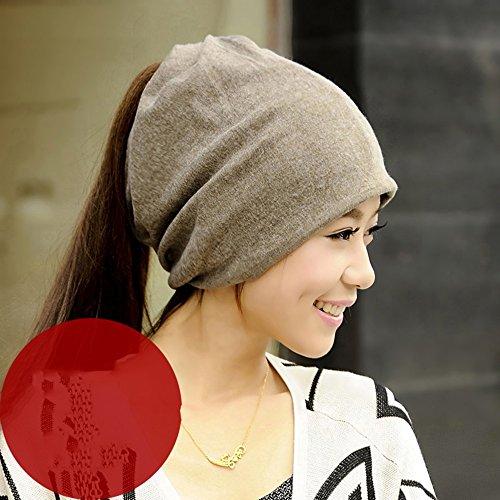 解決製品解決GLJF 帽子女性の春ファッションカジュアルハットMs. Baotou Heap Hat 3色展開 (色 : カーキ)