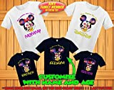 Mickey Minnie Mouse family matching tshirts, Disney family matching custom t-shirts, Family vacation disney shirts, custom Personalized disney shirt, Personalized Disney Shirts for Family,