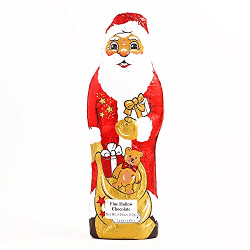 Riegelein Foil Santa 5.3 oz each - Gourmet Christmas Gift for the Holidays (2 Items per Order, Not per Case)