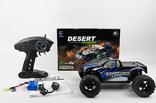 iMeshbean RC Cars, 1/16 1:16 4WD 2.4G 35+MPH High Speed Radio Remote control RC RTR Truck Car Off Road SY-2 Blue For Best Gift