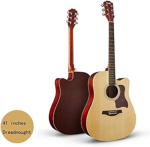 YJFENG-Guitarra Acústica,Diapasón De 20 Trastes Distancia De ...