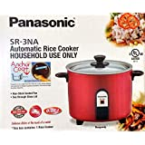 PANASONIC SR-3NAR Automatic Rice Cooker (Color: Burgundy)