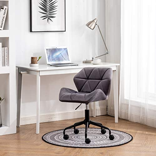 Roundhill Furniture Eldon Diamond Tufted Adjustable Swivel Office Chair