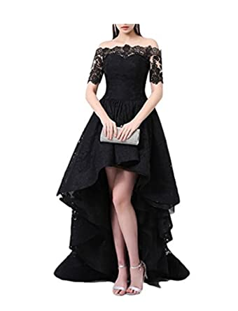 9e6ebafe06 FWVR Lace Evening Dresses for Women Formal Hi-Lo Prom Wedding Party Dress  Plus Size