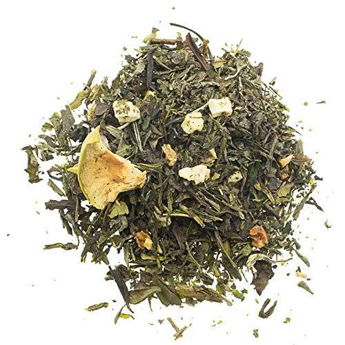 Aromas de Te - Te Verde Manzana Con Jengibre Te Blanco Pai Mu Tan y Hojas de Mora Dulce - Saludable - para Combatir Dolores de Garganta o de Cabeza - 100