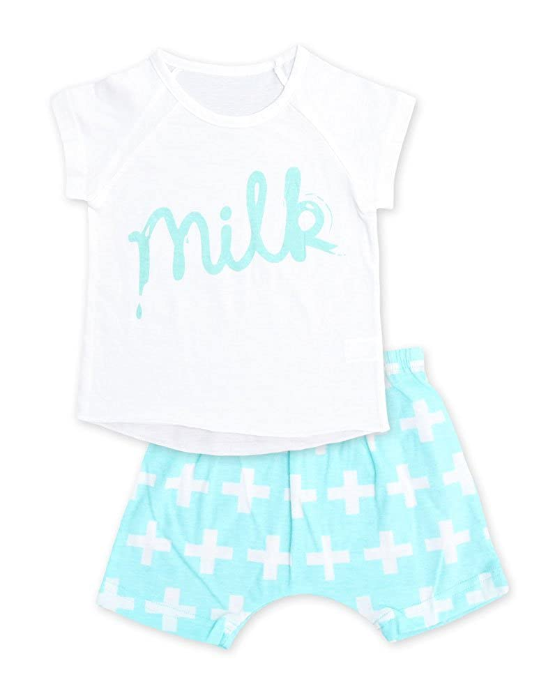 CYTHERA Little Boys Milk Pajama Set