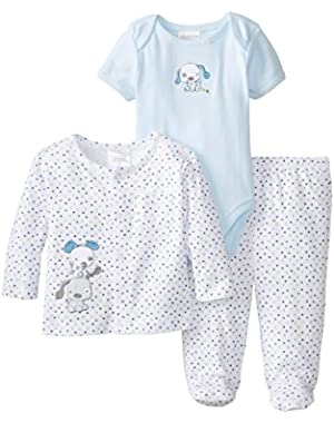 ABSORBA Baby-Boys Newborn B 3 Piece Jacket Set Puppy