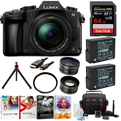 G85MK 4K Mirrorless Lens Camera Kit, 12-60mm Len + 64GB, 2 Battery, Software Accessory Kit ()