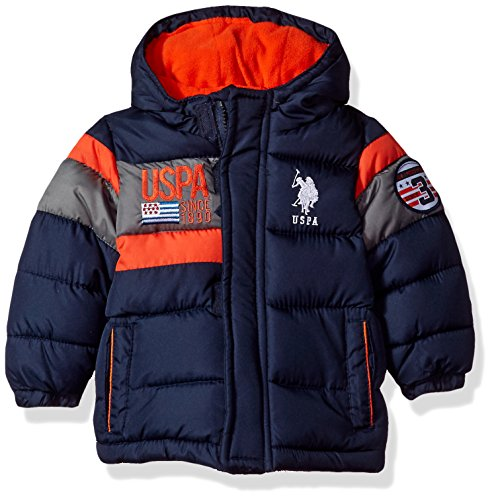 US Polo Association Baby Boys' Outerwear Jacket (More Styles Available), UB65-Navy, 12M (Polo Jackets For Big Boys)