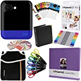 Polaroid POP Instant Camera (Blue) Gift Bundle + ZINK Paper (20 Sheets) + 8x8'' Cloth Scrapbook + Pouch + 6 Edged Scissors + 100 Sticker Border Frames + Markers + Hanging Frames + Album