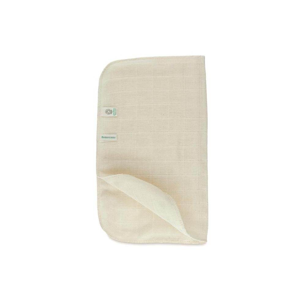 Organic Cotton Muslin Face Cloth   25 X 25cm By Greenfibres by Greenfibres