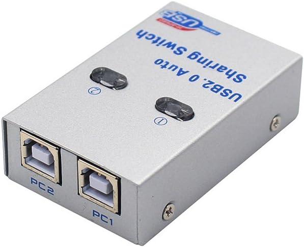 yeung Qee USB 2.0 Interruptor Sharing Switcher Auto escáner de impresora externo, 2 puertos de alta velocidad Hub Auto compartir interruptor adaptador: Amazon.es: Electrónica