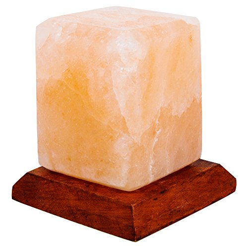 Fab Glass and Mirror SL-CBS34-USB Pure Himalayan Crystal Rock Salt Sub Lamp, Pink