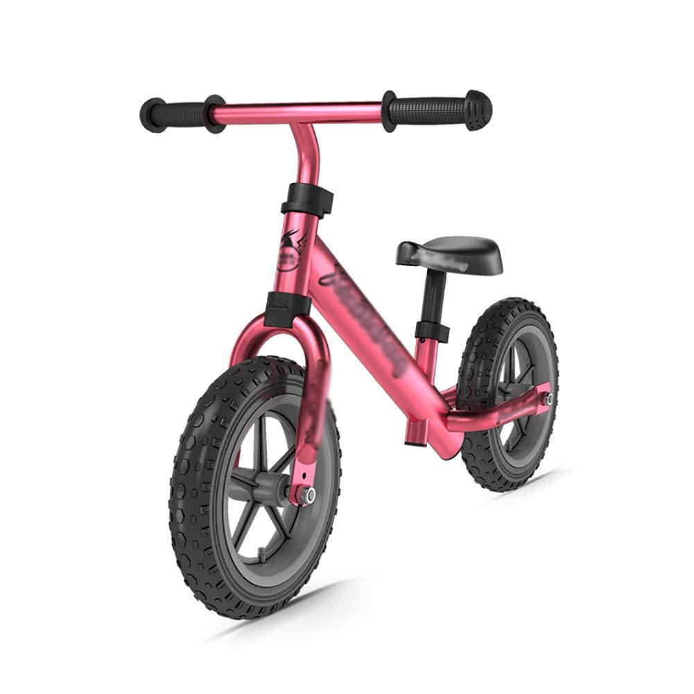 Biciclette senza pedali Bici per Bambini con Sedile Regolabile e Pneumatici privi di Pneumatici, Bici da Allenamento a Spinta Senza Pedali, Ottimo Regalo per Bambini Fino a 2 Anni