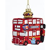 Amazoncom London Double Decker Bus Christmas Ornament Large
