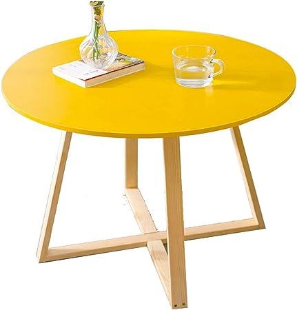 HAIZHEN - Mesa de café (madera maciza de estilo nórdico, mesa ...
