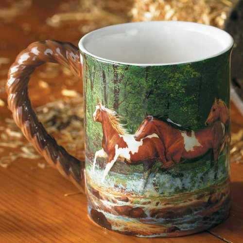 Spring Creek Horse Sculpted Mug by Chris Cummings