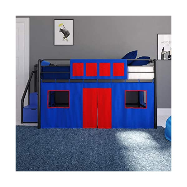 DHP 4314429SET Loft Bed with Slide 2