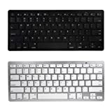 Panasonic Toughpad 4K Keyboard, BoxWave [Desktop Type Runner Keyboard] Portable, Lightweight Bluetooth Keyboard for Panasonic Toughpad 4K - Jet Black