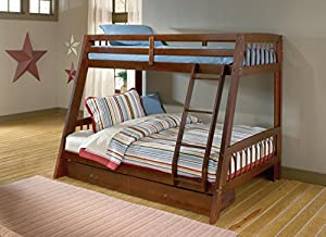 hillsdale 1608bb rockdale bunk bed twin over full cherry