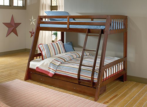 Hillsdale 1608BB Rockdale Bunk Bed, Twin over Full, (Twin Over Full Cherry Bed)